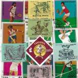 Collection de timbres Tennis oblitérés