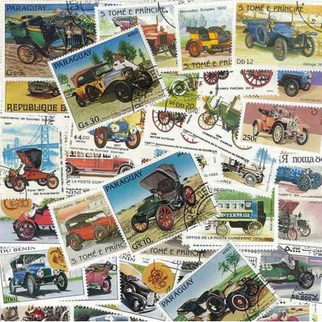 Collection de timbres Tacots oblitérés