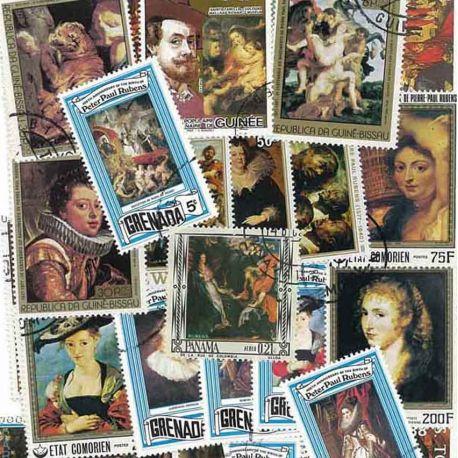 Collection de timbres Rubens oblitérés