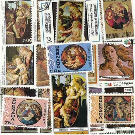 Collection de timbres Boticelli oblitérés