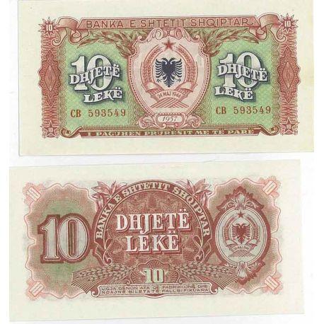 Albanie - Pk N° 28 - Billet de 10 Leke