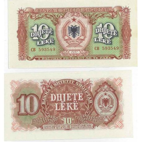 Billets de collection Billet de collection Billet collection 10 Leke Pk N° 28 Billet Albanie Billets d'Albanie 7,00 €