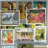 Collection de timbres Gauguin oblitérés