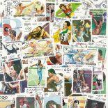 Collection de timbres Jo Ete Barcelone oblitérés