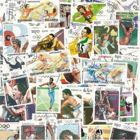 Jo war Barcelona: 100 verschiedene Briefmarken