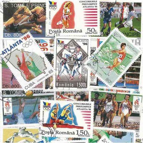 OJ Ete Atlanta: 50 verschiedene Briefmarken