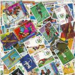 Collezione di francobolli giochi olimpici cancellati