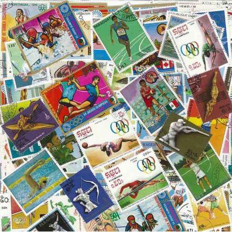 Collection de timbres Jo Ete oblitérés
