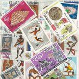 Collection de timbres Jo Ete Mexico oblitérés