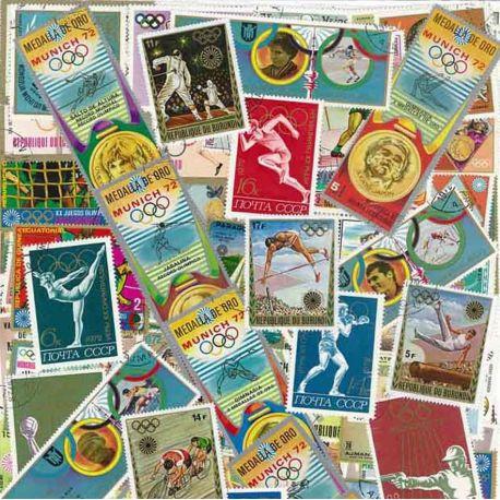 OJ wurde München: 100 verschiedene Briefmarken
