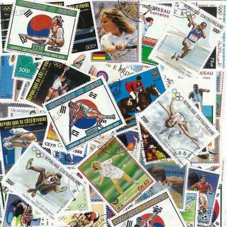 OJ wurde Seoul: 100 verschiedene Briefmarken
