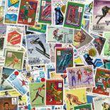 Collezione di francobolli giochi olimpici inverno cancellati