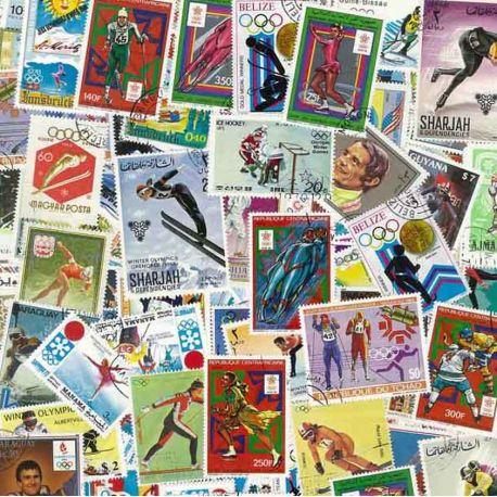 Olympische Winterspiele: 100 verschiedene Briefmarken