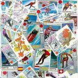 Collezione di francobolli giochi olimpici inverno Sapporo cancellati