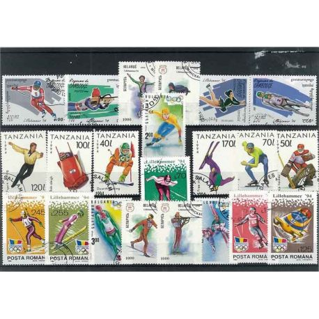 Collection Timbres JO Collection de timbres Jo Hiver Lillehamer oblitérés à partir de 3,00 €