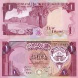 Los billetes de banco Kuwait Pick número 13 - 1 Dinar