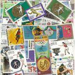 Collection de timbres Jo Hiver Lake Placid oblitérés