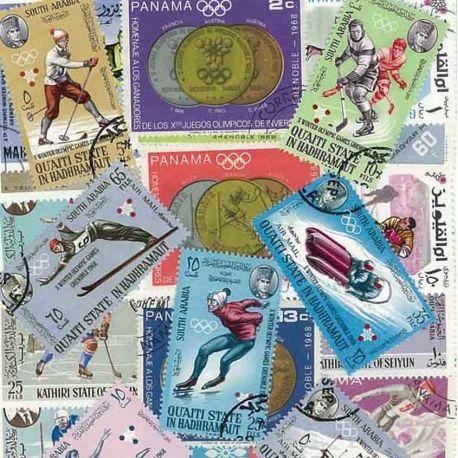 ABL Hiver Grenoble: 25 verschiedene Briefmarken