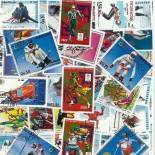 Collection de timbres Jo Hiver Calgary oblitérés