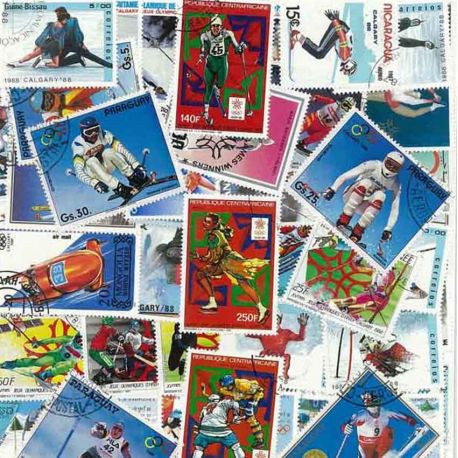 ABL Hiver Calgary: 90 verschiedene Briefmarken