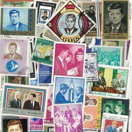 Collection de timbres Kennedy oblitérés