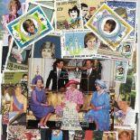 Collezione di francobolli Lady Diana cancellati