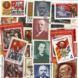 Collezione di francobolli Lenin cancellati