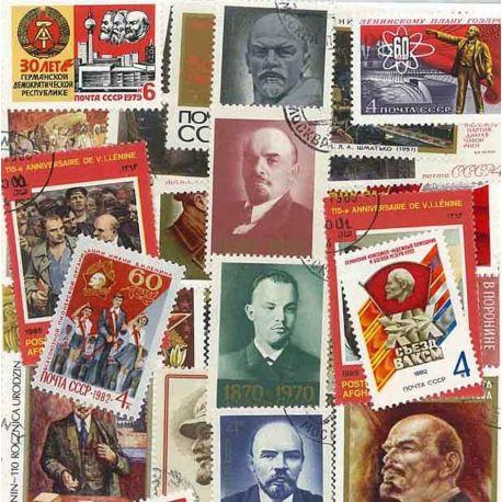 Collection de timbres Lenine oblitérés