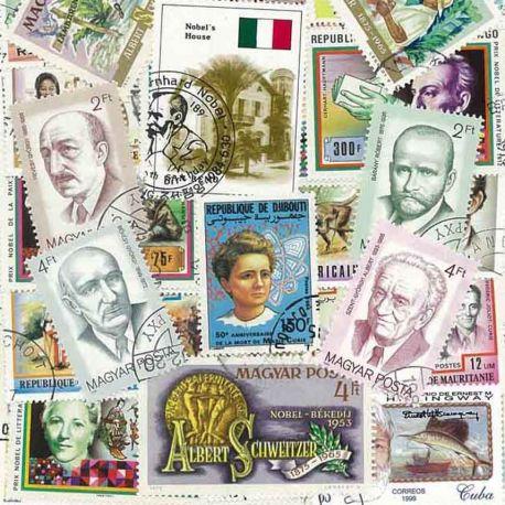 Nobel: 25 verschiedene Briefmarken