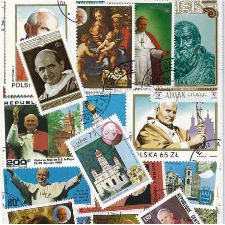 Päpste: 25 verschiedene Briefmarken
