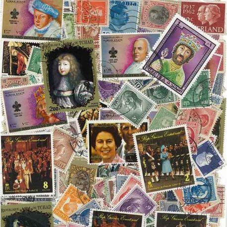 Könige und Königinnen: 100 verschiedene Briefmarken
