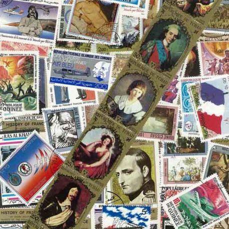 Collection de timbres Histoire de France oblitérés