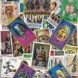 Collection de timbres Masques oblitérés