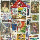 Collection de timbres Noel oblitérés