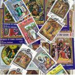 Sammlung gestempelter Briefmarken Ostern