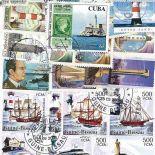 Collection de timbres Phares oblitérés