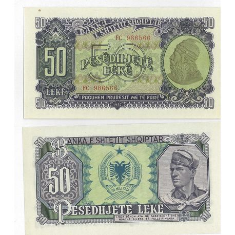 Albanie - Pk N° 29 - Billet de 50 Leke
