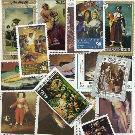 Goya: 25 verschiedene Briefmarken