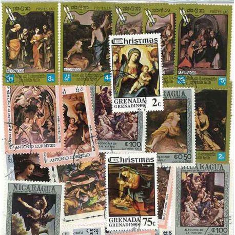 Corregio: 25 verschiedene Briefmarken