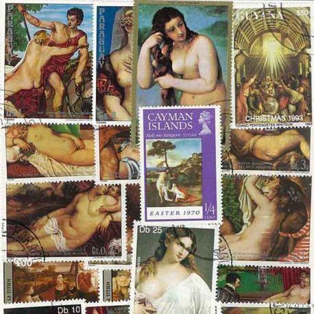 Collection de timbres Le Titien oblitérés