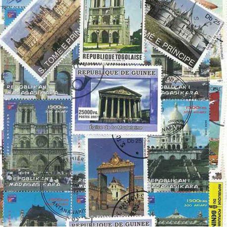 Collection de timbres Monuments Francais oblitérés