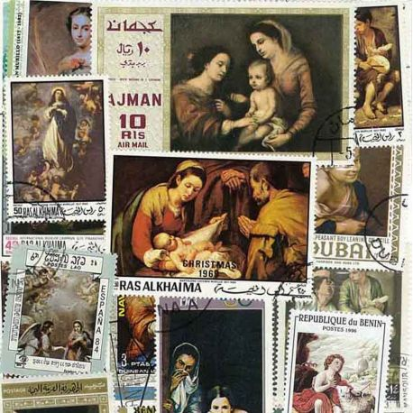 Collection de timbres Murillo oblitérés