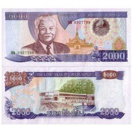 Billets banque Laos Pk N° 33 - 2000 Kip