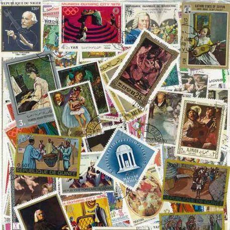 Collection de timbres Musique oblitérés