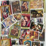 Collection de timbres Nativite Vierge oblitérés