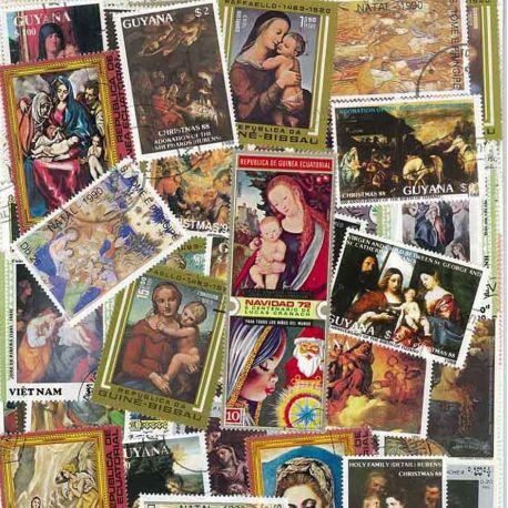 NATIVITE Jungfrau: 100 verschiedene Briefmarken