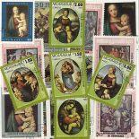 Collezione di francobolli Raphael cancellati