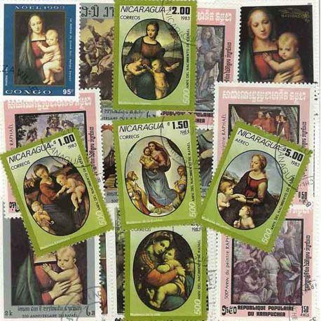 Raphael: 100 verschiedene Briefmarken