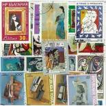 Collezione di francobolli Picasso cancellati