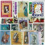 Collection de timbres Picasso oblitérés